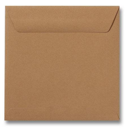 Envelop 17 x 17 cm Bruin