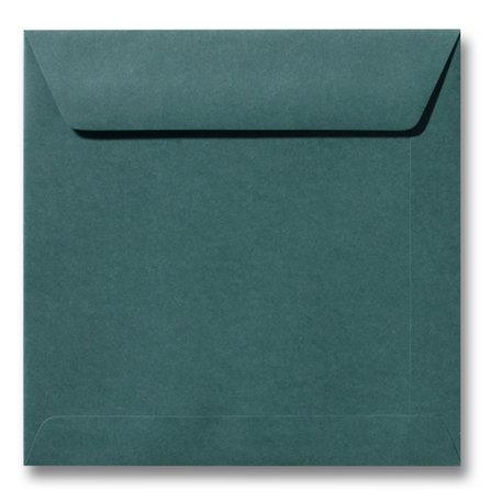 Envelop 17 x 17 cm Donkergroen