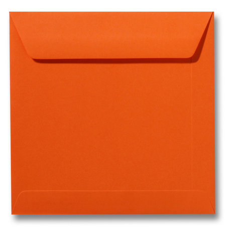 Envelop 17 x 17 cm Donkeroranje