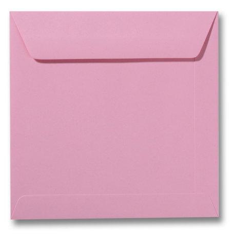 Envelop 17 x 17 cm Donkerroze