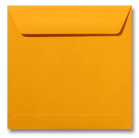 Envelop 17 x 17 cm Goudgeel