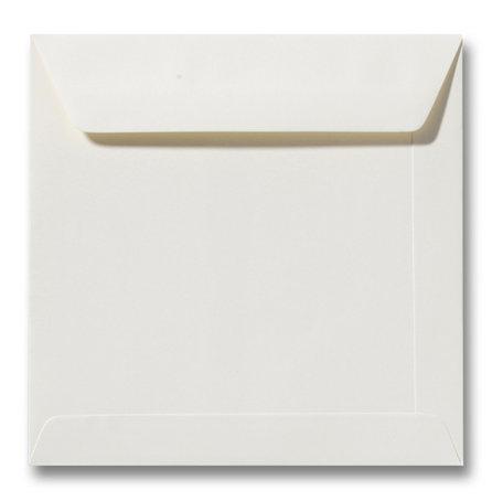 Envelop 17 x 17 cm Ivoor