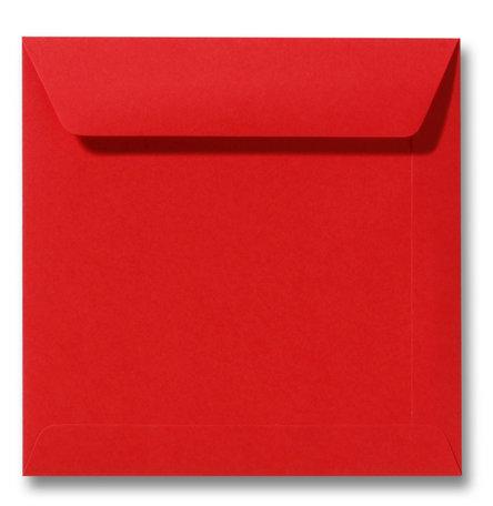 Envelop 17 x 17 cm Koraalrood