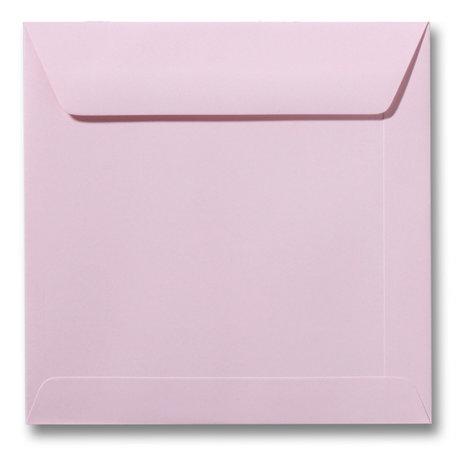 Envelop 17 x 17 cm Lichtroze