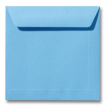 Envelop 17 x 17 cm Oceaanblauw