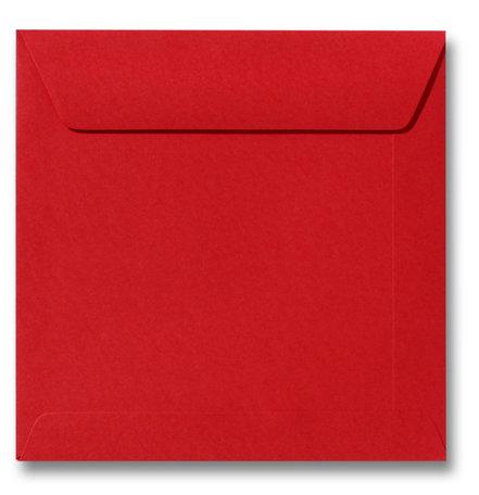 Envelop 17 x 17 cm Pioenrood