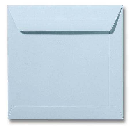 Envelop 17 x 17 cm Zachtblauw