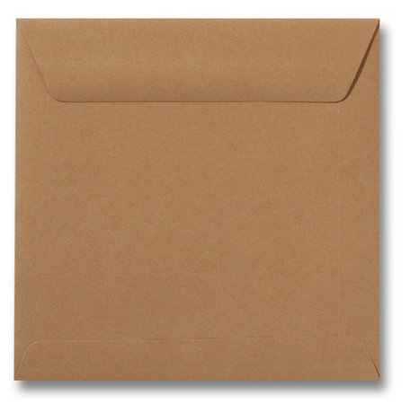 Envelop 19 x 19 cm Bruin