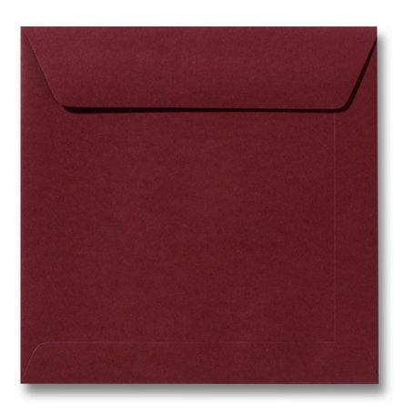 Envelop 22 x 22 cm Donkerrood