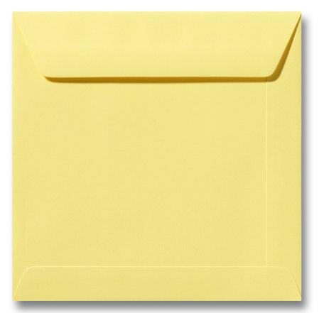 Envelop 22 x 22 cm Kanariegeel
