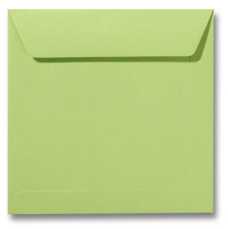 Envelop 22 x 22 cm Lindegroen