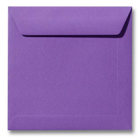 Envelop 22 x 22 cm Paars