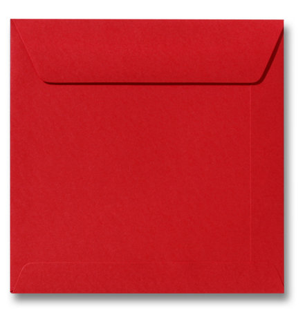 Envelop 22 x 22 cm Pioenrood