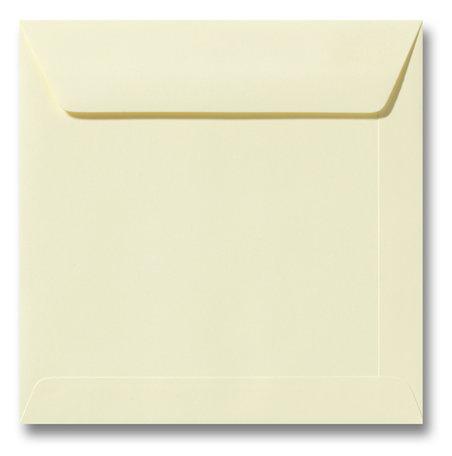 Envelop 22 x 22 cm Zachtgeel