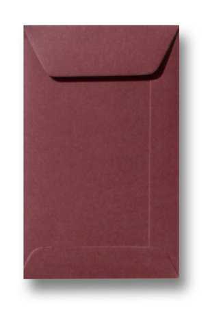Envelop 6,5 x 10,5 cm Donkerrood