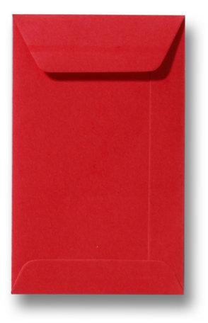 Envelop 6,5 x 10,5 cm Koraalrood