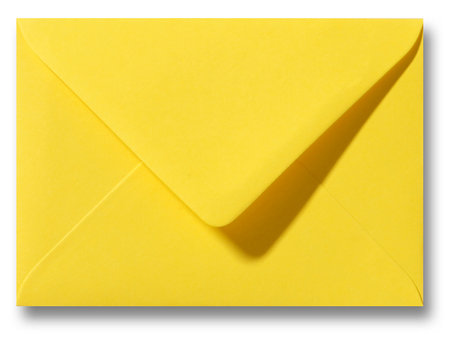 Envelop 8 x 11,4 cm Boterbloemgeel
