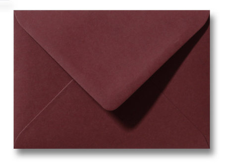 Envelop 8 x 11,4 cm Donkerrood