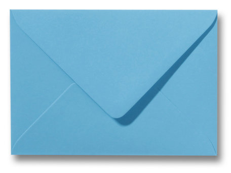 Envelop 8 x 11,4 cm Oceaanblauw