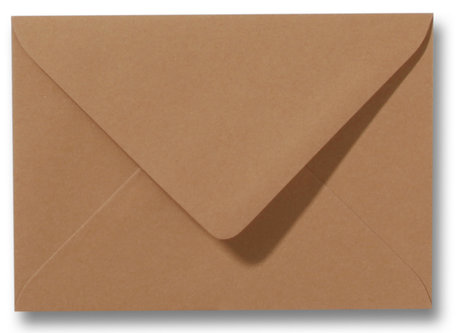 Envelop 9 x 14 cm Bruin