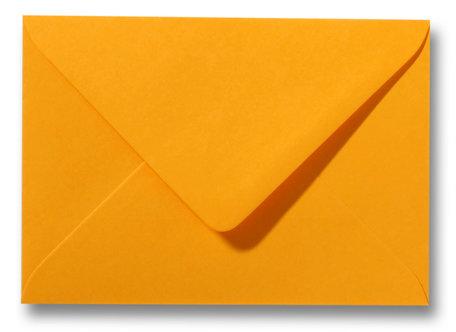 Envelop 9 x 14 cm Goudgeel