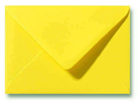 Envelop 9 x 14 cm Kanariegeel