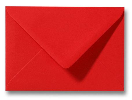 Envelop 9 x 14 cm Koraalrood