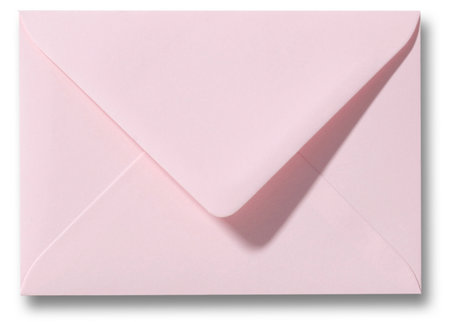 Envelop 9 x 14 cm Lichtroze