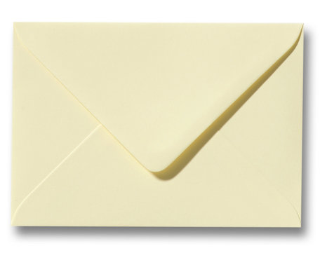 Envelop 9 x 14 cm Zachtgeel
