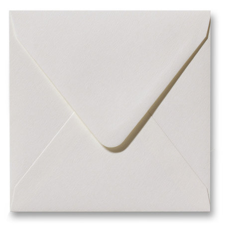 Envelop 12 x 12 cm Fiore Gebroken Wit