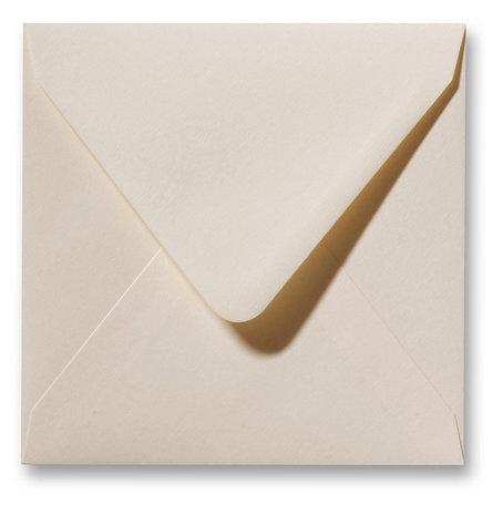Envelop Fiore 12 x 12 cm Creme