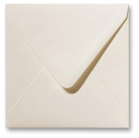 Envelop Fiore 12 x 12 cm Ivoor