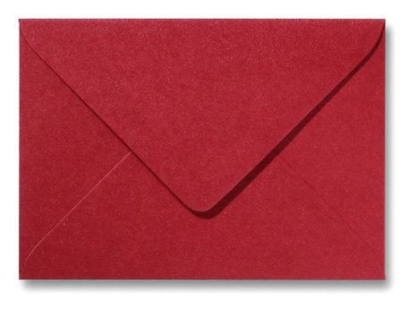 Envelop 12 x 18 cm Metallic Rood