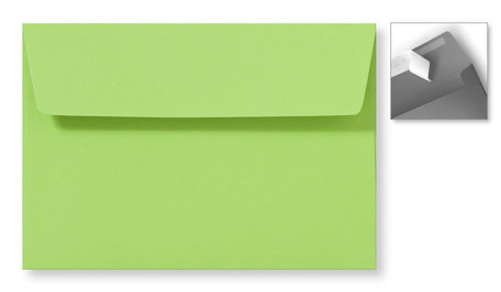 Envelop 12,6 x 18 cm Striplock Appelgroen