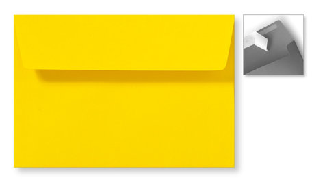 Envelop 12,6 x 18 cm Striplock Boterbloemgeel