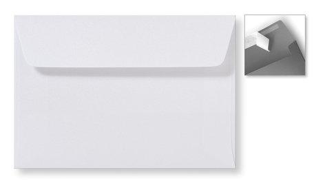 Envelop 12,6 x 18 cm Striplock Extra White Metallic