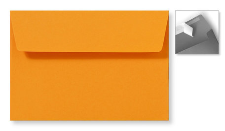 Envelop 12,6 x 18 cm Striplock Feloranje