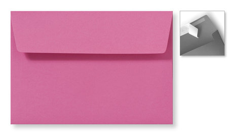 Envelop 12,6 x 18 cm Striplock Knalroze