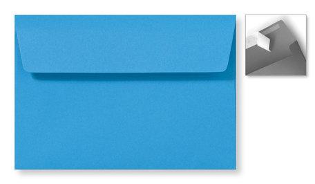 Envelop 12,6 x 18 cm Striplock Koningsblauw