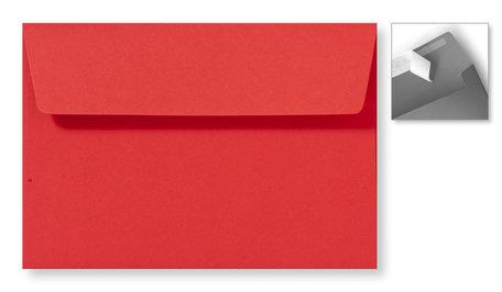 Envelop 12,6 x 18 cm Striplock Koraalrood