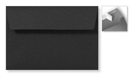 Envelop 12,6 x 18 cm Striplock Zwart