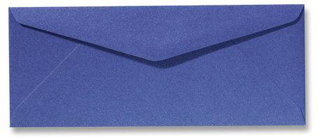Envelop 9 x 22 cm Metallic Blue