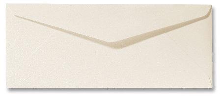 Envelop 9 x 22 cm Metallic Ivory