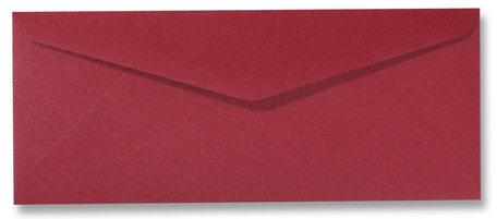 Envelop 9 x 22 cm Metallic Rood