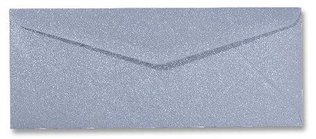 Envelop 9 x 22 cm Metallic Zilver