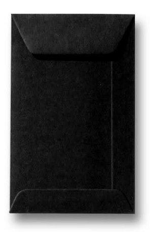 Envelop 6,5 x 10,5 cm Zwart