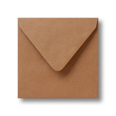 Envelop 12,5 x 14 cm Kraft Bruin