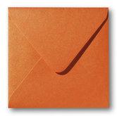 Envelop 12 x 12 cm Metallic Orange Glow