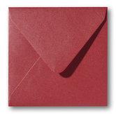 Envelop 12 x 12 cm Metallic Rosso
