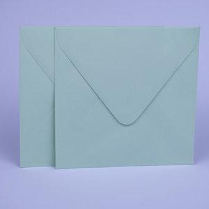Envelop 14 x 14 cm Mintgroen